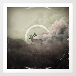 Controlled Burn - B Art Print