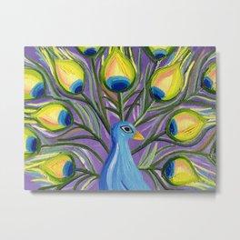 Peacock Nursery Wall Art Metal Print