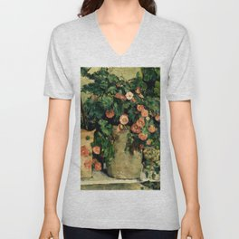 "Paul Cezanne ""Quiet life with Petunien"" Unisex V-Neck"