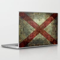 alabama Laptop & iPad Skins featuring Alabama state flag by Bruce Stanfield