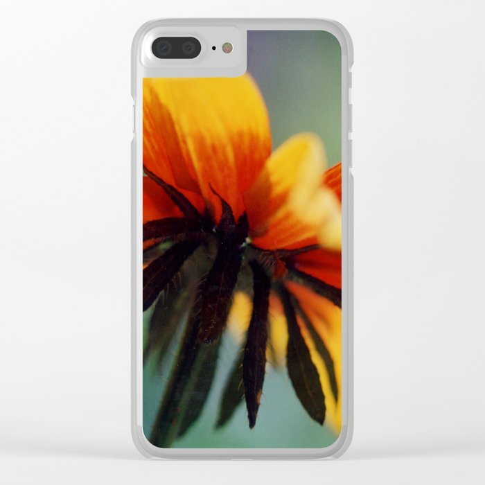 Bee's Eye view of a Black-eyed Susan Clear iPhone Case