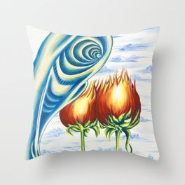 Poppie Flowers Throw Pillow