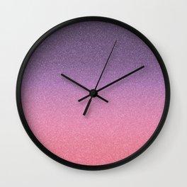 Frozen Ombre - Amethyst Dusk Wall Clock