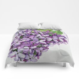 Watercolour Lilac Bloom Comforters