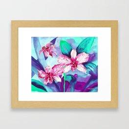 WILD ORCHIDS - VIOLET Framed Art Print