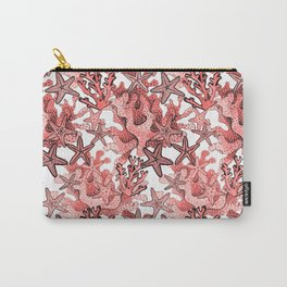 Living Coral and starfish, Coral reef Carry-All Pouch