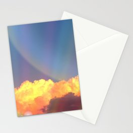 Whimsical clouds Stationery Cards