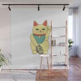 Lucky Cat Wall Mural