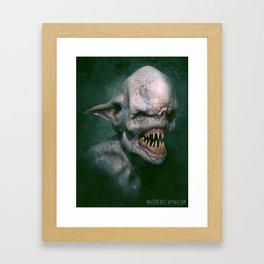 Albino Goblin Framed Art Print