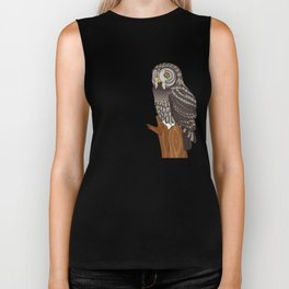 Great Gray Owl Biker Tank
