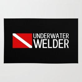 Diver Down Flag: Underwater Welder Rug