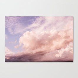 Perfect Pink Summer Sky Nature Photography Canvas Print