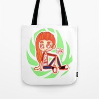 sport Tote Bags featuring Sport Girl by Glopesfirestar