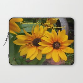 Blossom Where You Are Planted Laptop Sleeve