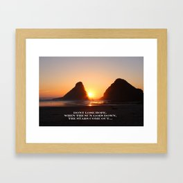 Oregon sunset Framed Art Print