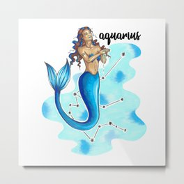 Aquarius Mermaid Metal Print