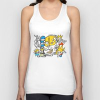 simpsons Tank Tops featuring Simpsons by Ray Kane