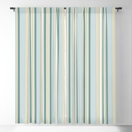 Beach house stripes Blackout Curtain
