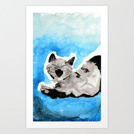 Galaxy Kitty Art Print