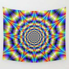 Psychedelic Wheel Wall Tapestry