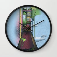 melbourne Wall Clocks featuring Melbourne by Mel Muraca