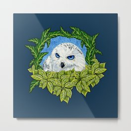 Mister Blue Eyes (Snowy Owl) Metal Print