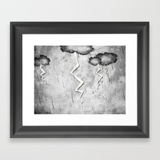There's a storm a brewin Framed Art Print