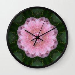 Pink Carnation Mandala Abstract Wall Clock