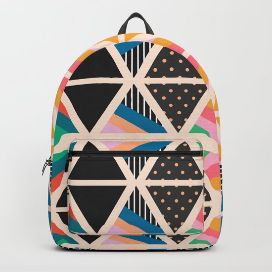 Triangle collage Backpack