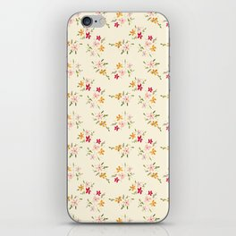 Wes Anderson Inspired Floral Bouquets iPhone Skin