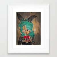 dragon ball Framed Art Prints featuring First Lady Of Dragon Ball  by Artistic