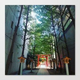 Tokyo: Hidden Temple Canvas Print