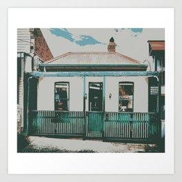 Victorian Terrace Cottage Melbourne  Art Print