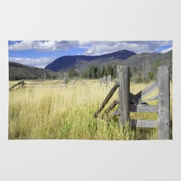 Rocky Mountain Fence Rug