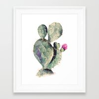 cactus Framed Art Prints featuring CACTUS by Annet Weelink Design