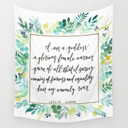 I Am A Goddess Wall Tapestry