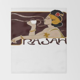 Cafe Rajah 1897 Throw Blanket