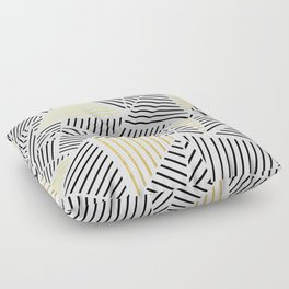A Linear White Gold New Floor Pillow