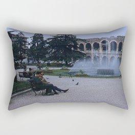 Vintage Color Photo * 1950's * Verona Arena * Amphitheater * Italy *Italian Life Rectangular Pillow