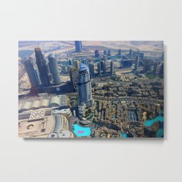 View from the Burj Khalifa Metal Print