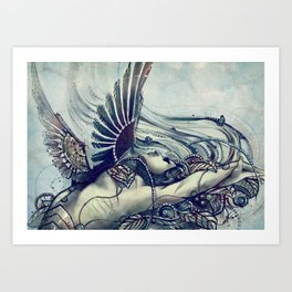 Zodiac Sign: Virgo Art Print