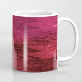 Red Faded Chevron Coffee Mug