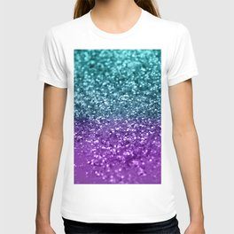 4ef1f6d5002c Purple Teal MERMAID Girls Glitter #1 #shiny #decor #art #society6 T