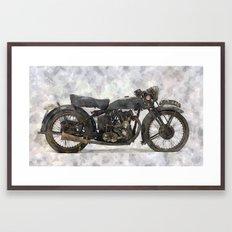 Vintage Motorcycle No1 Framed Art Print