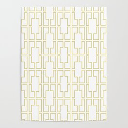 Simply Mid-Century in Mod Yellow Poster