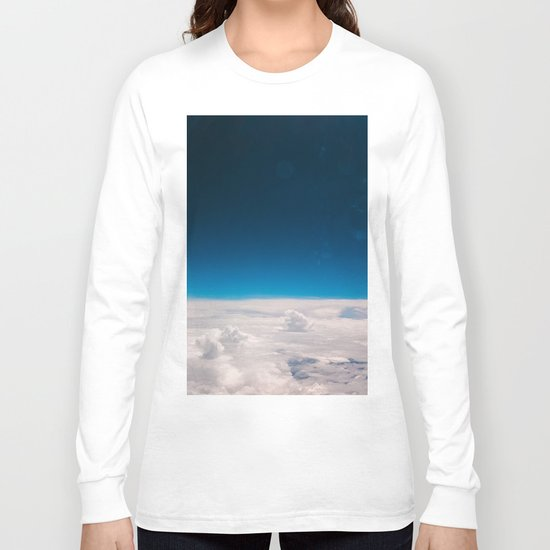 Blue and White at the sky Long Sleeve T-shirt