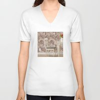 agate V-neck T-shirts featuring agate walls,wallpaper by ira gora