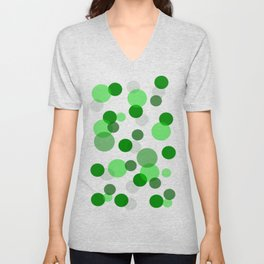 Green Spots Unisex V-Neck