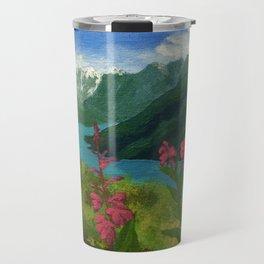 Eklutna Lake Travel Mug