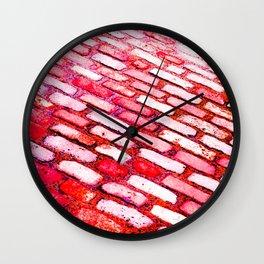 Diagonal Cobble Stones Wall Clock